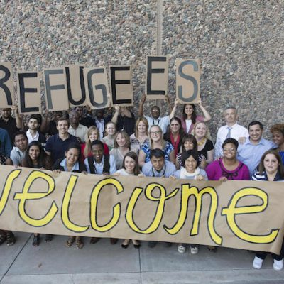 Phoenix Mayor And Leaders Welcoming Refugees