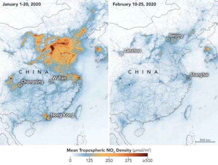 As Coronavirus Keeps Humans Indoors, Air Quality Has Improved