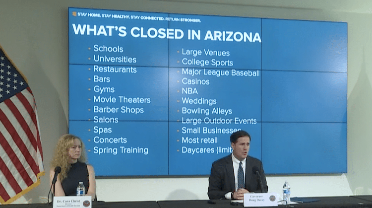 Governor Ducey Announces Extension To Arizona Stay-At-Home Order