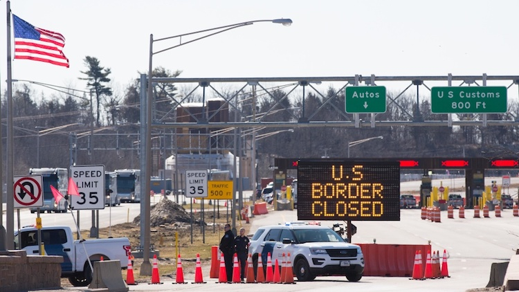 Borders to Mexico and Canada to be Closed into February