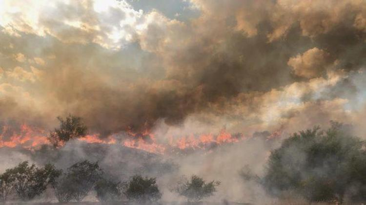 Bush Fire Grows, Part Of State Route 87 Remains Closed