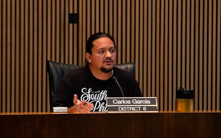 "Councilman Garcia Sole 'No"" Vote on Homelessness Plan"