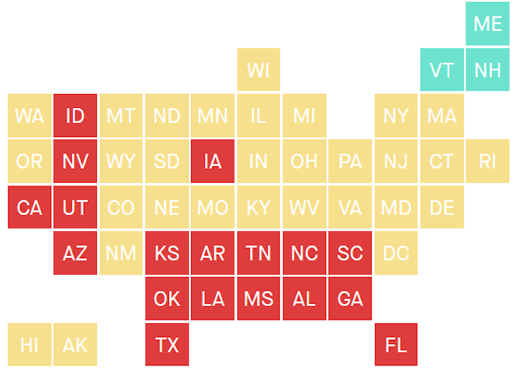 18 States In COVID-19 Red Zone