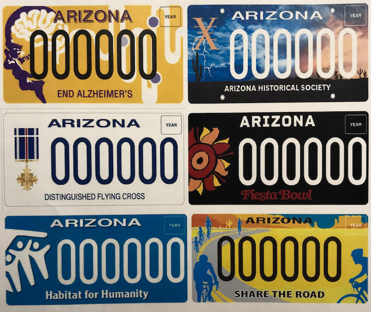 Arizona Department of Transportation Releases 5 New Specialty License Plates