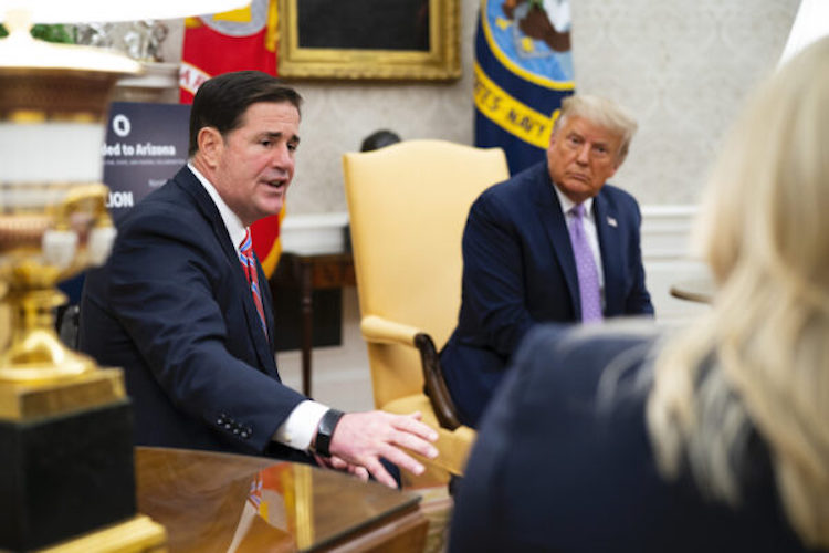 Governor Ducey Meets With President Trump, Dr. Birx On COVID-19