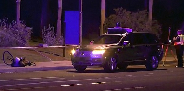 Self-Driving Uber Operator Charged with Negligent Homicide