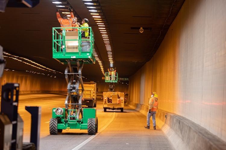 ADOT Installing New LED Lighting Inside I-10 Tunnel in Phoenix