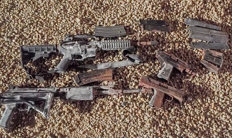 Phoenix Homeowners Find Bag of Guns While Digging in Backyard