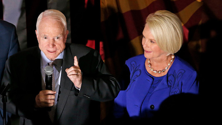Cindy McCain to Release Memoir About Late Husband, Sen. John McCain