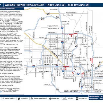June 11-14 – ADOT's Weekend Freeway Travel Advisory
