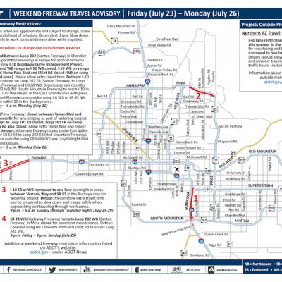 Weekend Freeway Travel Advisory – July 23-26