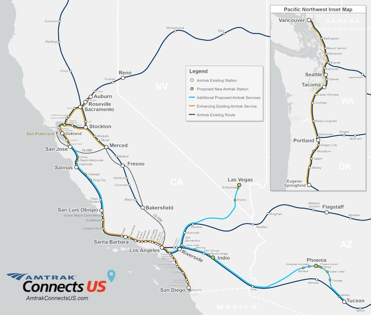Proposed Tucson-Phoenix Passenger Train Details Revealed